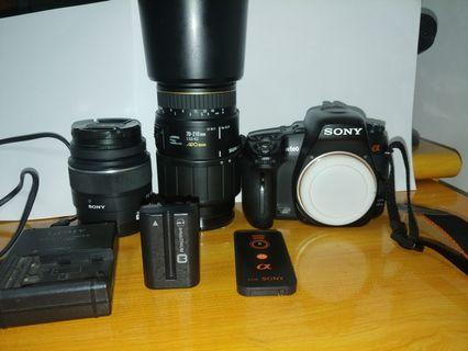 1機1長1短 Sony a560 入門單反 + 18-55 kit lens + sigma 70-210 apo macro(a mount amount alpha sal sony dslr not canon not nikon