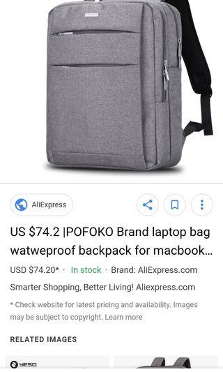 🚚 Pofoko laptop bag