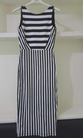 ZaRa條紋長裙