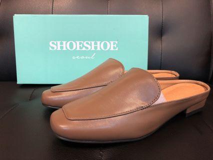全新。正韓簡約經典半包穆勒鞋