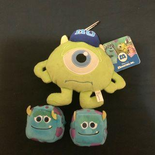 怪獸公司公仔 MonsterUniversity 毛毛 大眼仔 Mike 迪士尼 Pixar Disney 八達通 散紙包 掛飾