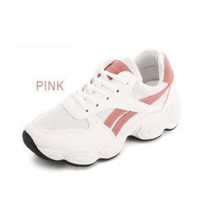 Pink White Platform Chunky 👟 Shoes