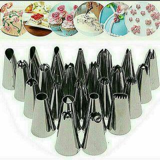BNIP 1 set (24pieces) Stainless steel baking nozzles