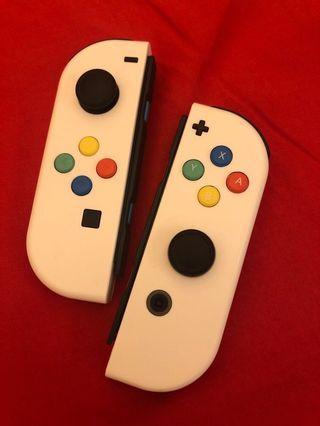 Switch 手制 joy-con 白色彩鍵 (不含grip)