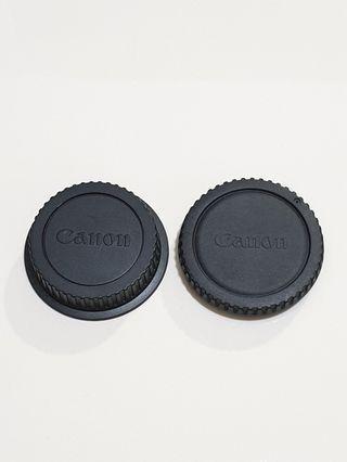 Original Canon Camera Body Front + Rear Lens Cap Cover