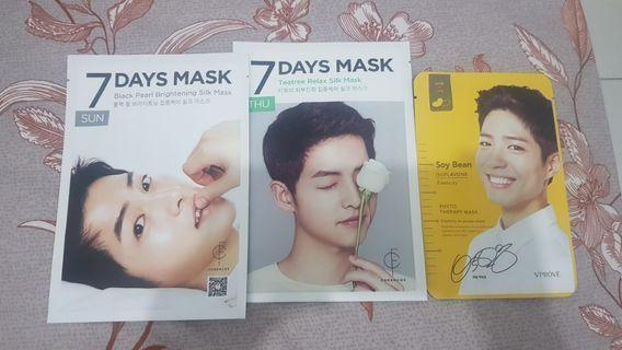 Sheet Mask Song Joong Ki dan Park Bo Gum