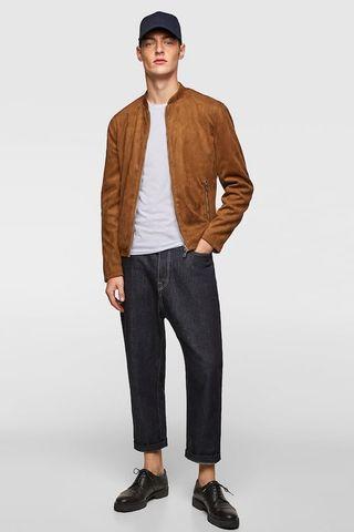 Zara Faux Suede Jacket