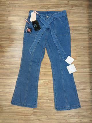 🚚 YOCO-牛仔寬褲