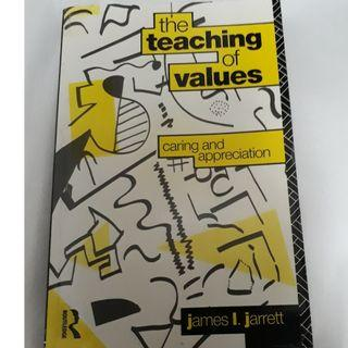 The Teaching of Values: Caring and Appreciation by Jarrett, James, 1991, Paperback