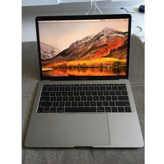 """2017 Apple Macbook Pro (not air) 13"""" 13 inch space grey, barely used, ~200 battery cycle count"""