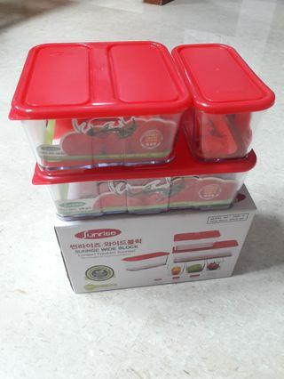 Sunrise Wide Block (SBW-9) Food Container Set