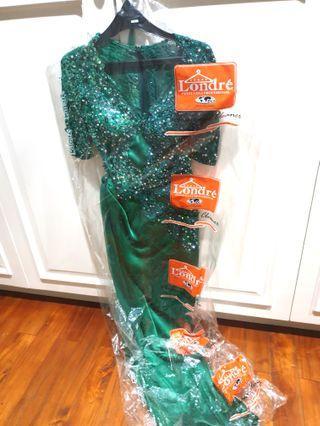 Forsale Sexy Dress Gown, Green dengan batu svaroski