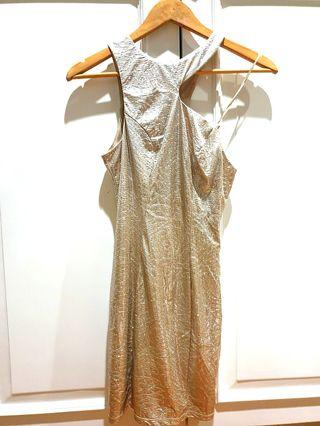 Forsale : Guess Sexy Coctail Dress, Silver Colour