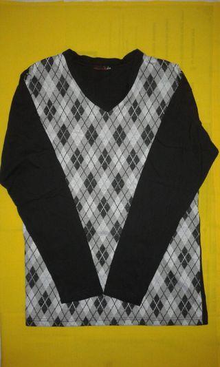 Kaos pria oblong kombinasi hitam abu abu muda + tua