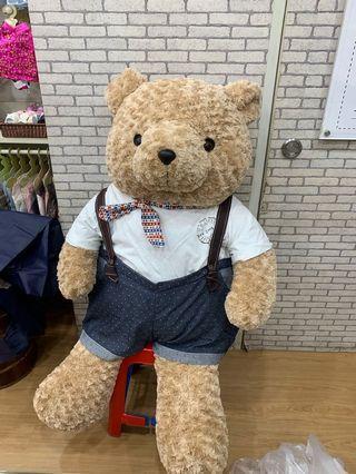 """Teddy Bear Marties Warna Beige 48"""" plus Dungarees Set"""
