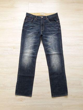 Navy produce stonewash denim jeans