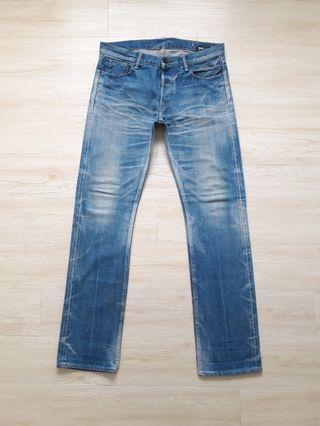 Kuro selvedge stonewash denim jeans