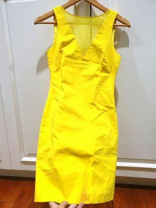 Foresale sexy Dress yellow colour