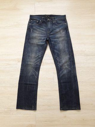 Uniqlo stonewash denim jeans