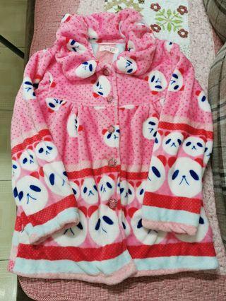珊瑚絨毛睡衣連褲