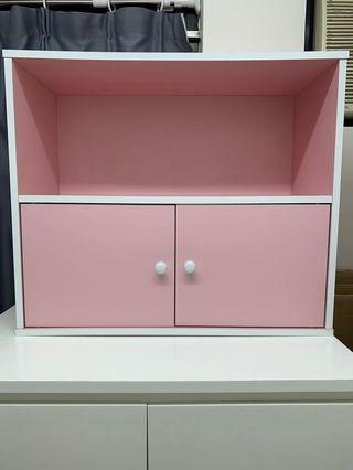Pink storage cabinet  粉紅色儲物櫃