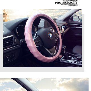 新款汽車方向盤套韓國可愛熒光波浪款四季通用女士時尚車把套夏季