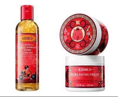 Kiehl's Calendular Herbal-Extract Toner & Ultra Facial Cream