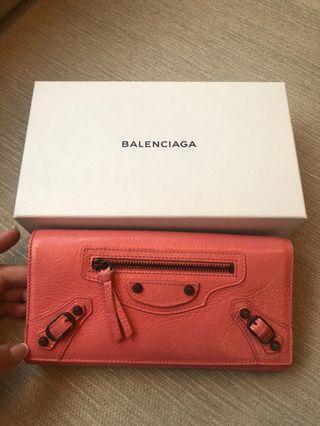 🚚 全新正品 巴黎世家 Balenciaga經典羊皮款 機車包長夾黑扣