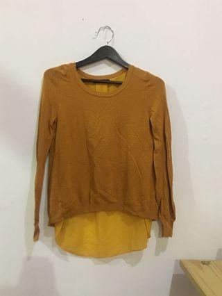 Mustard sweter