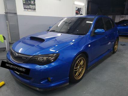 Subaru WRX 5D hatch/2.5M tinting/wrap services!