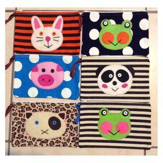 10個 純手工 帆布包 可愛多功能收納包 拼布小手袋 創意包包 ,再加碼送一堆用不到的袋子