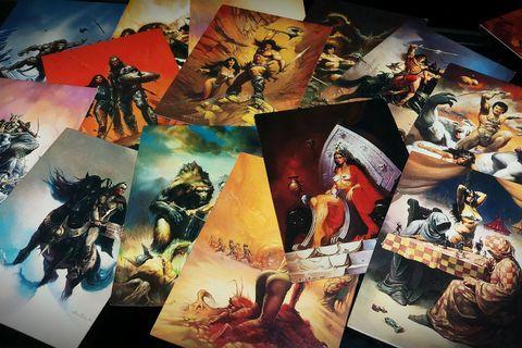 KEN KELLY Fantasy Art Trading Cards (1992, FPG [16 Card Lot]