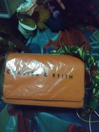 Charles and Keith Orange bag