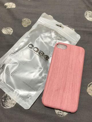 🚚 Iphone7木頭紋路手機殼(粉)