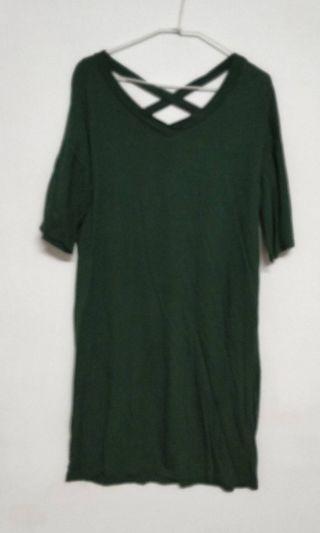 🚚 草綠長版上衣 全新僅下水 便宜出售 特價 $ 390  商品售出不退換😊 請考慮清楚喔!