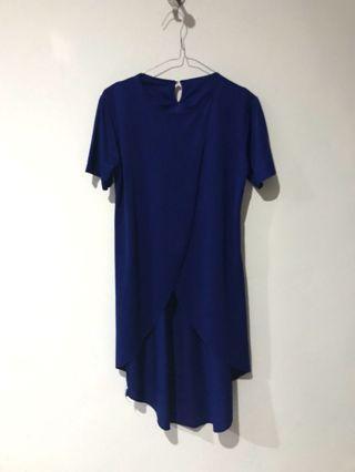 Dark blue mini dress