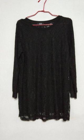 🚚 黑色蕾絲韓版上衣 全新未穿過 便宜出售 特價 $ 590含運寄出  商品售出不退換😊 請考慮清楚喔!