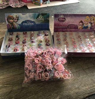 (Reduced!) more than 300 pcs Disney Princess rings