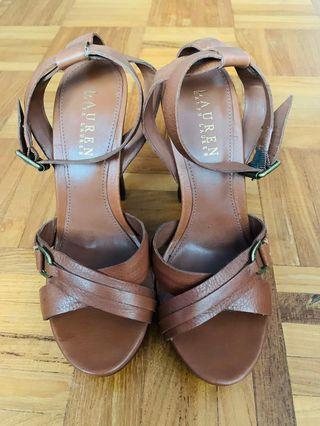 Ralph Lauren leather heels US7B
