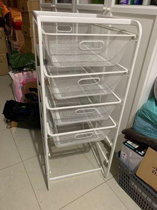 IKEA ALGOT 儲物架連網籃 Frame with 4 mesh baskets