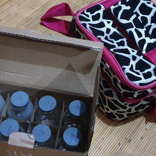 Tas & 8 pcs Botol penyimpan ASi