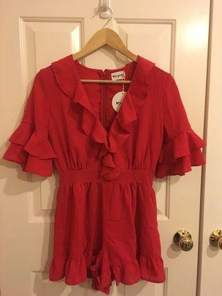 Beginning Boutique - Red Playsuit Size 8