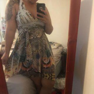 Boho printed summer dress