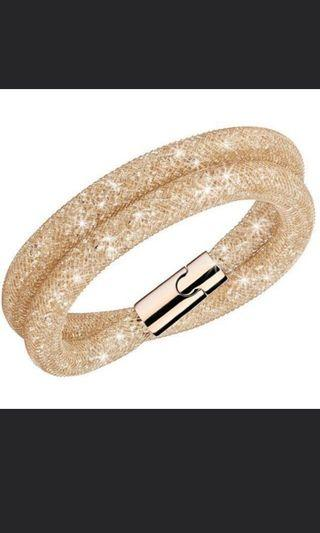 🚚 Swarovski stardust rose gold bangle bracelet