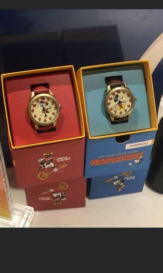 Disneyland couple mickey minnie vintage watch