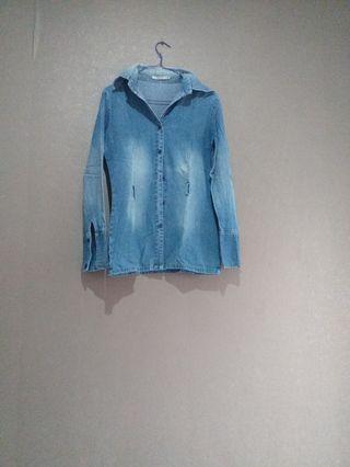 atasan jeans/jaket softjeans washed/kemeja denim
