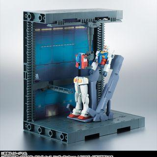 已開封 無盒 Bandai ROBOT魂 ver. A.N.I.M.E. 218 White Base Hanger Deck 木馬號格納庫 太空母艦 白色木馬