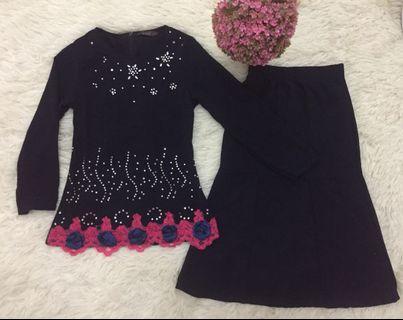 Baju Kurung Kanak-kanak Moden Lace