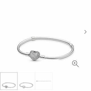 Pandora Silver Moments Pavé Heart Bracelet