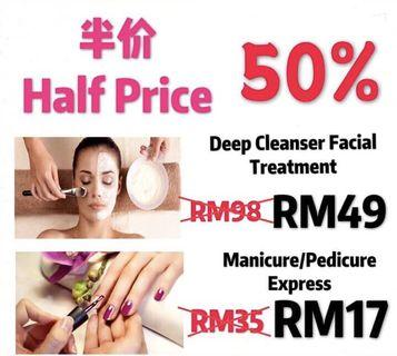 Promotion Facial Manicure and Pendicure Kuching Area